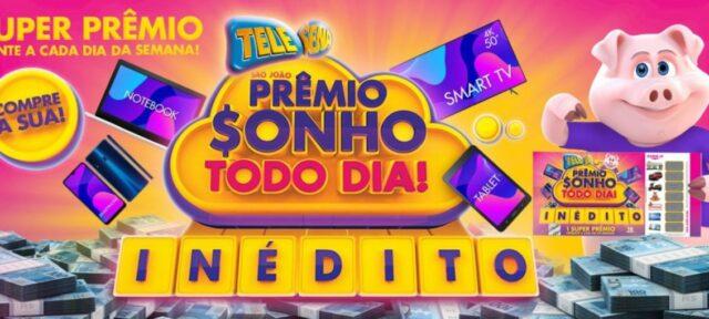 Resultado do 4º sorteio da Tele Sena de São João de domingo (28)